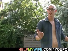 hot wife cuckolds her old husband