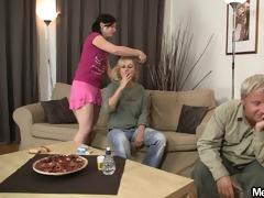 lustful slut rides his fathers jock
