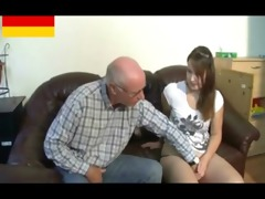 german older man makes youthful cutie excited