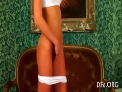 cute virgin acquires nude