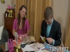 messy legal age teenager sucks & rides wang