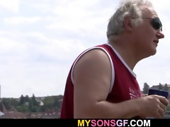he is catches her cheating with his old daddy