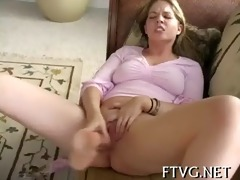 breasty girl masturbating