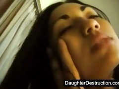 oriental legal age teenager daughter screwed hard