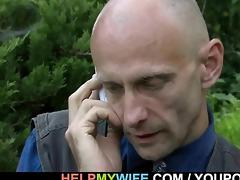 hung stranger does lustful juvenile wife