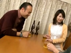 japanese wife sucks on a younger wang