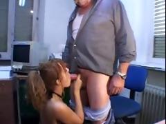 italian mustache older man with angel