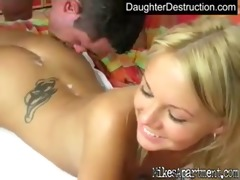 pleasant legal age teenager daughter bonks like a