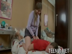 cute legal age teenager rudely used & drilled