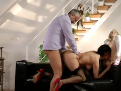 chic chicks threeway with old stud