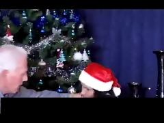 christmas - older man and grand daughter part1