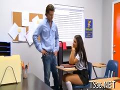 schoolgirl behaving badly