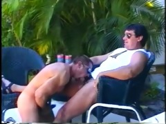 muscled dad bears enjoying sleazy outdoor cock