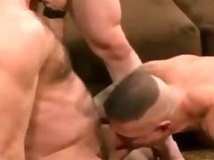 sexy raw hung daddy/boy three-some