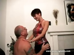 trillian acquires on her knees to please uncle