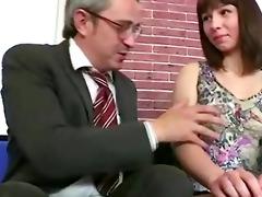 old teacher loved his russian brunette hair