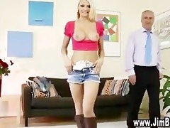juvenile blond beauty foreplaying