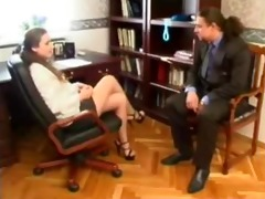 russian secretary office sex with old boss