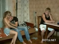 priceless team fuck with legal age teenager hotty