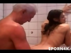 grandpapa fucking & licking a breasty legal