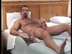 shaggy dad jerks off