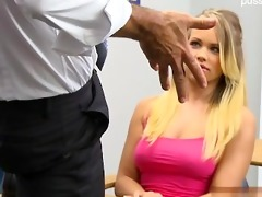 natural tits surprise cum in throat