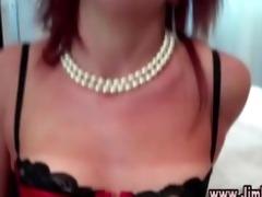 teasing pierced redhead