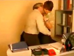 russian boss working with his sekretary russian