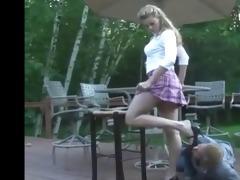 youthful princess use old mmf feet bondman