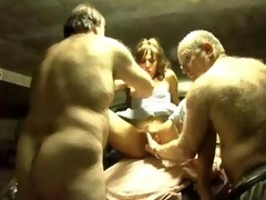 french aged guys drilled a pros in a garage