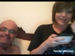 father and daughter on cam