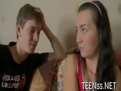 lascivious legal age teenager bonks with two stags
