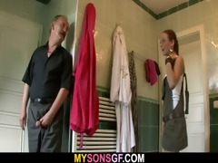 lustful daddy licks and copulates son&#274 s