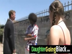 hawt daughter shlong engulf and interracial fuck