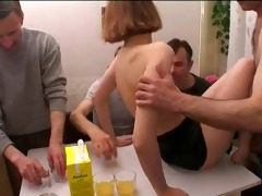 russian fuckfest with father and girlfriend