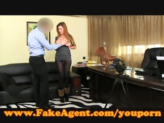 fakeagent sexually excited non-professional sucks